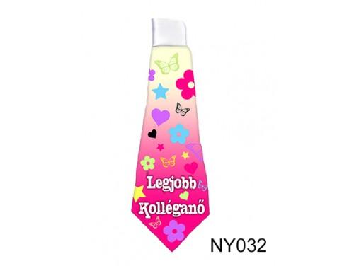 (NY032) Nyakkendő 37 cm x 13 cm - Legjobb Kolléganő - Ajándék Kolléganőknek