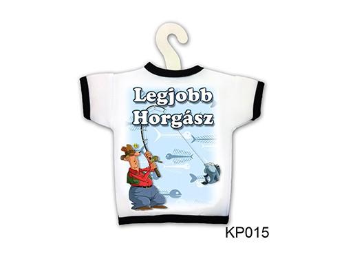 (KP015) Üvegpóló 13 cm x 18 cm - Legjobb Horgász - Horgászos ajándékok