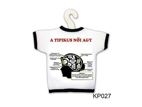 (KP027) Üvegpóló 13 cm x 18 cm - Tipikus Női agy - Ajándék Ötletek Férfiaknak, Nőknek