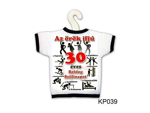 (KP039) Üvegpóló 13 cm x 18 cm - Örök ifjú 30 – 30. Szülinapi ajándék ötletek