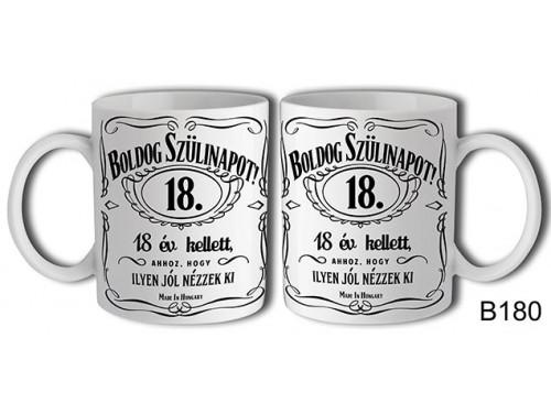 (B180) Bögre 3 dl - Boldog Szülinapot Jack 18 – Születésnapi bögre – Születésnapi ajándék