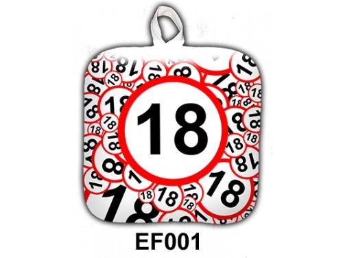 (EF001) Edényfogó 17 cm x 17 cm - 18-as karikás - Szülinapi Ajándék