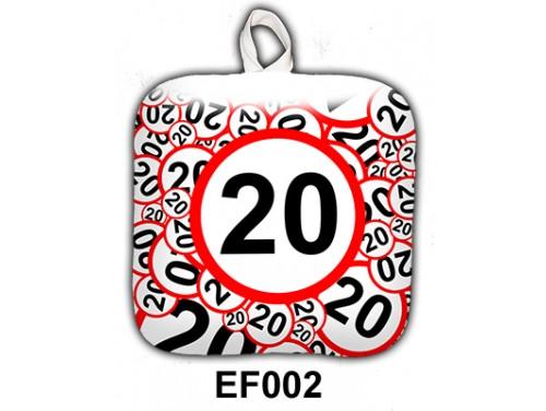 (EF002) Edényfogó 17 cm x 17 cm - 20-as karikás - Szülinapi Ajándék