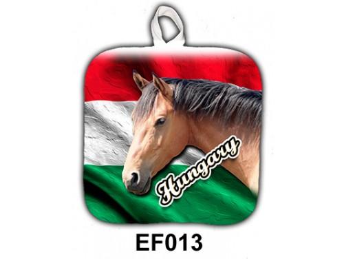 (EF013) Edényfogó 17 cm x 17 cm - Barna ló hungary – Lovas Ajándékok