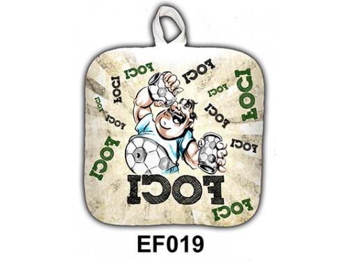 (EF019) Edényfogó 17 cm x 17 cm - Foci - Focis ajándékok