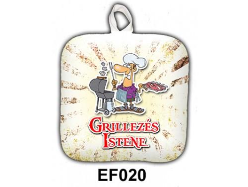 (EF020) Edényfogó 17 cm x 17 cm - Grillezés Istene - Grill Party Kellékek