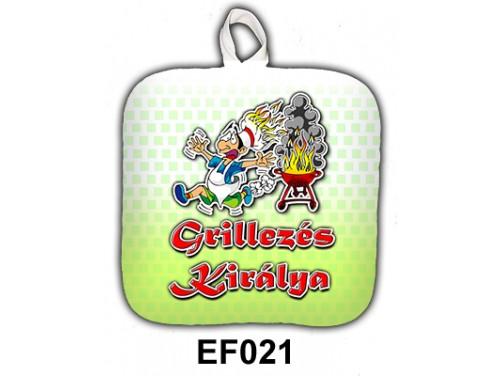 (EF021) Edényfogó 17 cm x 17 cm - Grillezés Királya - Grill Party Kellékek