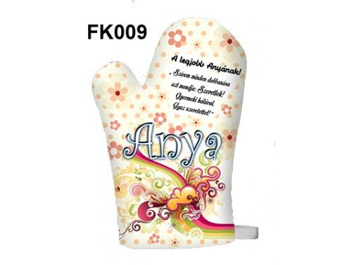 (FK009) Főzőkesztyű 16 cm x 26 cm - A legjobb Anyának - Ajándék anyukáknak - Anyák Napi Ajándékok