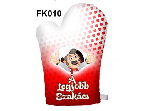 (FK010) Főzőkesztyű 16 cm x 26 cm - A legjobb szakács - Ajándékok Szakácsoknak