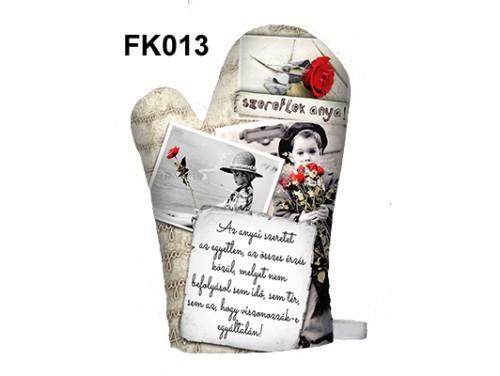(FK013) Főzőkesztyű 16 cm x 26 cm - Az anyai szeretet - Ajándék anyukáknak - Anyák Napi Ajándékok