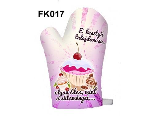 (FK017) Főzőkesztyű 16 cm x 26 cm - E kesztyű tulajdonosa, olyan édes… - Ajándék ötletek