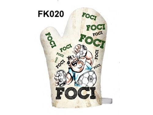 (FK020) Főzőkesztyű 16 cm x 26 cm - Focis - Focis ajándékok