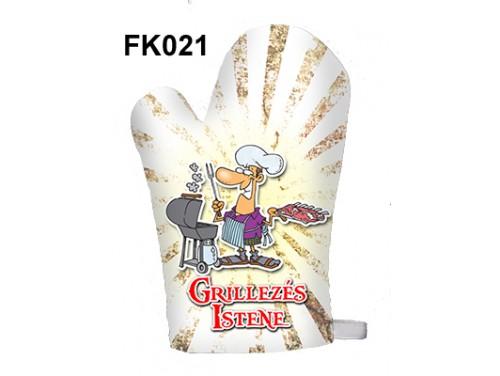 (FK021) Főzőkesztyű 16 cm x 26 cm - Grillezés Istene - Grill Party Kellékek