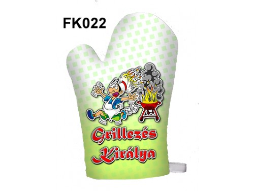 (FK022) Főzőkesztyű 16 cm x 26 cm - Grillezés Királya - Grill Party Kellékek