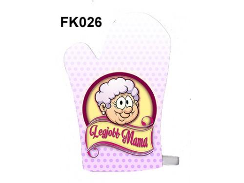 (FK026) Főzőkesztyű 16 cm x 26 cm - Legjobb mama - Ajándék Nagymamáknak