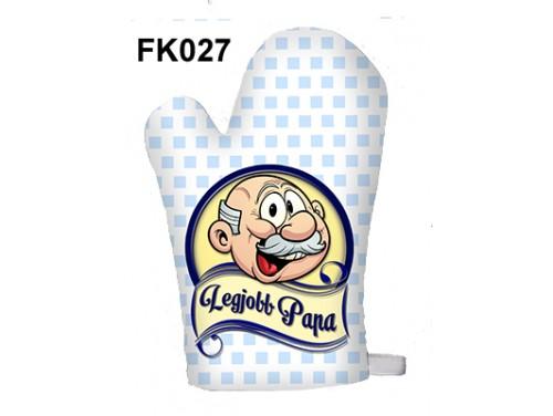 (FK027) Főzőkesztyű 16 cm x 26 cm - Legjobb papa - Ajándék ötletek papáknak