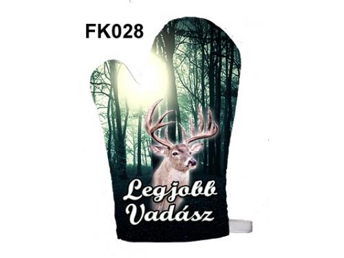 (FK028) Főzőkesztyű 16 cm x 26 cm - Legjobb vadász - Vadász Ajándék