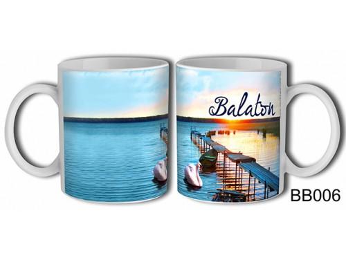 (BB006) Bögre 3 dl - Stég naplemente - Balatonos Ajándéktárgyak - Balaton Souvenir