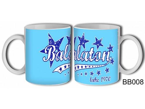 (BB008) Bögre 3 dl - Kék csillagos Balaton - Balatonos Ajándéktárgyak - Balaton Souvenir