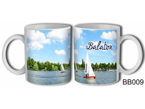 (BB009) Bögre 3 dl - Vitorlás kikötős - Balatonos Ajándéktárgyak - Balaton Souvenir