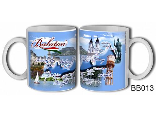 (BB013) Bögre 3 dl - Városos - Balatonos Ajándéktárgyak - Balaton Souvenir