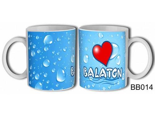 (BB014) Bögre 3 dl - Vizcseppes Love Balaton - Balatonos Ajándéktárgyak - Balaton Souvenir