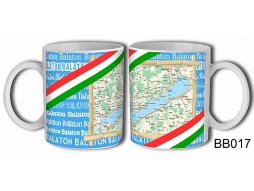 (BB017) Bögre 3 dl - Térképes - Balatonos Ajándéktárgyak - Balaton Souvenir
