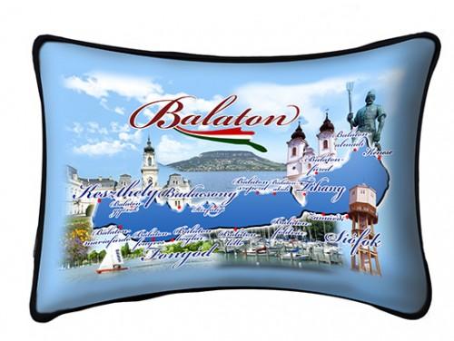 (PB005) Párna 37 cm x 27 cm - Városos - Balatonos Ajándéktárgyak