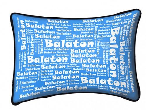 (PB009) Párna 37 cm x 27 cm - Feliratos Balaton - Balatonos Ajándéktárgyak