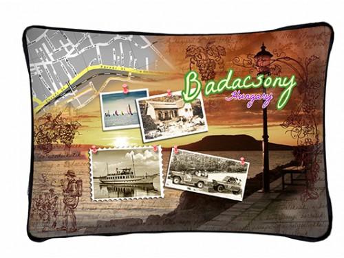 (PB016) Párna 37 cm x 27 cm - Badacsony - Balatonos Ajándéktárgyak