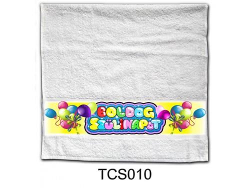 (TCS010) Törölköző 90 cm x 48 cm - Boldog Szülinapot lufis - Szülinapi Ajándékok