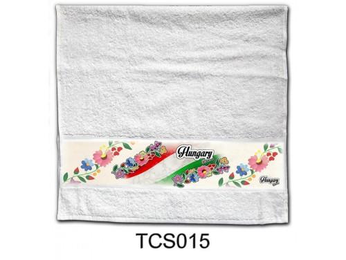 (TCS015) Törölköző 90 cm x 48 cm - Kalocsai – Magyaros Ajándékok