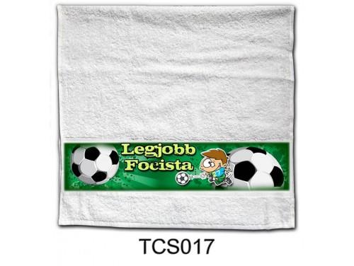 (TCS017) Törölköző 90 cm x 48 cm - Legjobb Focista - Focis ajándékok