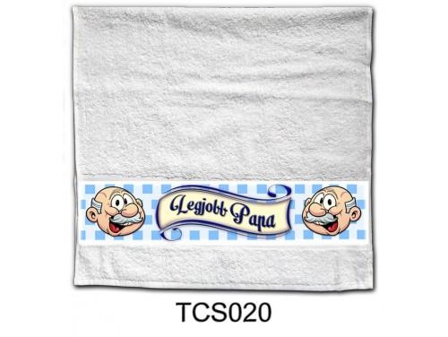 (TCS020) Törölköző 90 cm x 48 cm - Legjobb Papa - Ajándékok Nagypapáknak