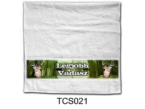 (TCS021) Törölköző 90 cm x 48 cm - Legjobb Vadász - Ajándék Vadászoknak