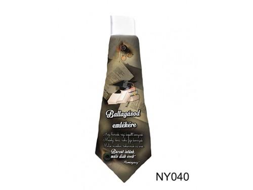 (NY040) Nyakkendő 37 cm x 13 cm - Ballagásod emlékére Régi harcok - Ballagási Ajándékok