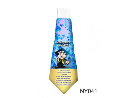 (NY041) Nyakkendő 37 cm x 13 cm - Ballagásod emlékére - Ballagási Ajándékok