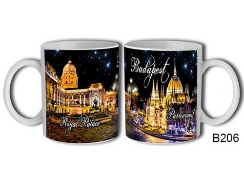 (B206) Bögre 3 dl - Éjszaka Budapest - Budapestes Ajándéktárgyak - Budapest souvenir