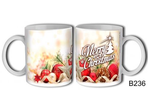 (B236) Bögre 3 dl - Dekor Merry Christmas – Karácsonyi ajándék