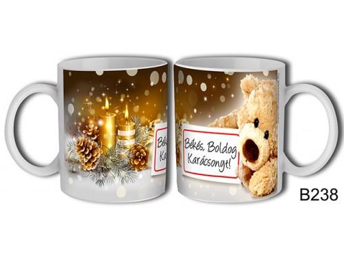 (B238) Bögre 3 dl - Táblás maci – Karácsonyi ajándék