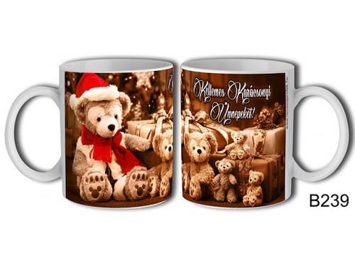 (B239) Bögre 3 dl - Sok plüss maci – Karácsonyi ajándék