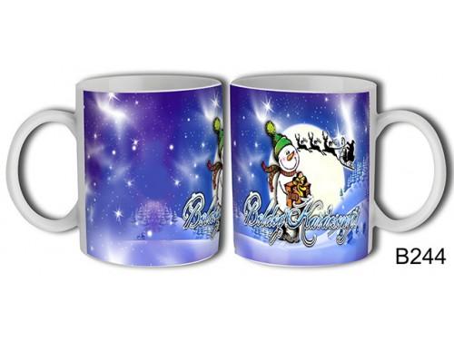 (B244) Bögre 3 dl - Hóember – Karácsonyi ajándék