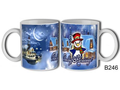 (B246) Bögre 3 dl - Pingvin Karácsony – Karácsonyi ajándék
