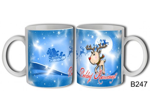 (B247) Bögre 3 dl - Rénszarvas Karácsony – Karácsonyi ajándék