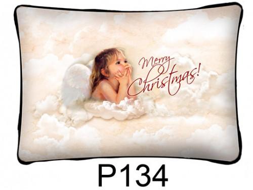 (P134) Párna 37 cm x 27 cm - Angyal kislány – Karácsonyi ajándékok