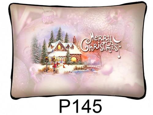 (P145) Párna 37 cm x 27 cm - Festményes Karácsony – Karácsonyi ajándékok