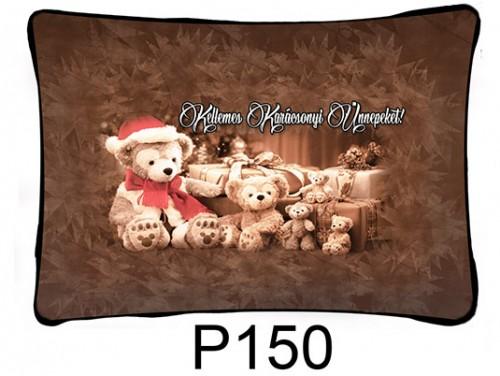 (P150) Párna 37 cm x 27 cm - Sok plüss maci – Karácsonyi ajándékok
