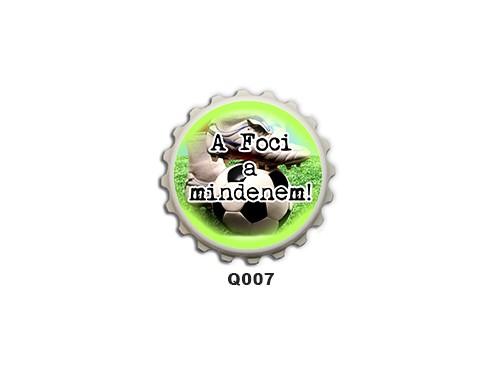 (Q007) Kupak mágnes 8 cm - A foci a mindenem – Focis Ajándékok
