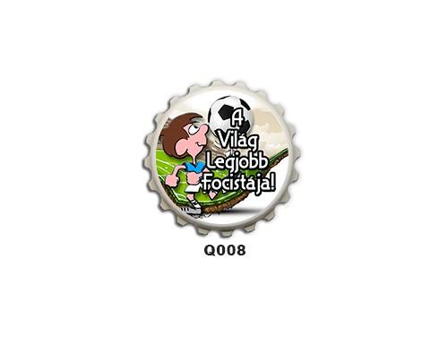 (Q008) Kupak mágnes 8 cm - A világ legjobb focistája – Focis Ajándékok