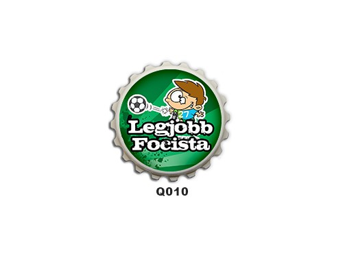 (Q010) Kupak mágnes 8 cm - A legjobb focista – Focis Ajándékok